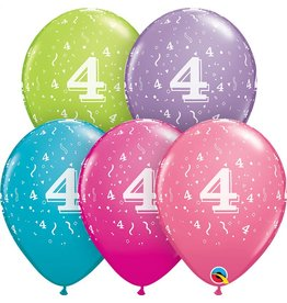 """11"""" #4 Confetti Trendy Balloons Uninflated"""