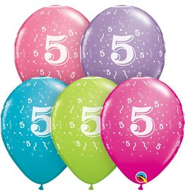 """11"""" #5 Confetti Trendy Balloons Uninflated"""