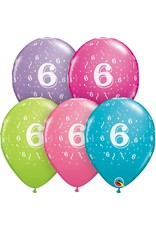 "11"" #6 Confetti Trendy Balloons (Without Helium)"