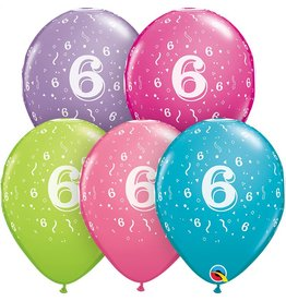"""11"""" #6 Confetti Trendy Balloons (Without Helium)"""