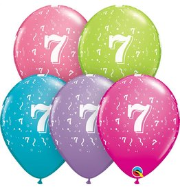 """11"""" #7 Confetti Trendy Balloons (Without Helium)"""
