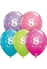 "11"" #8 Confetti Trendy Balloons (Without Helium)"