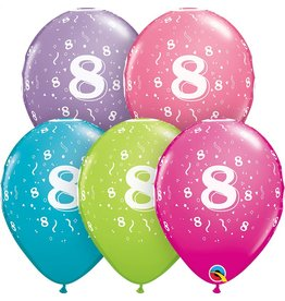 """11"""" #8 Confetti Trendy Balloons (Without Helium)"""