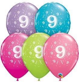 """11"""" #9 Confetti Trendy Balloons (Without Helium)"""