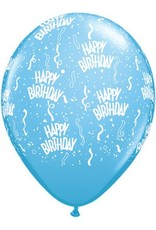 """11"""" Birthday Around Pale Blue Balloons (Without Helium)"""
