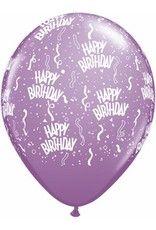 """11"""" Birthday Around Spring Lilac Balloons (Without Helium)"""