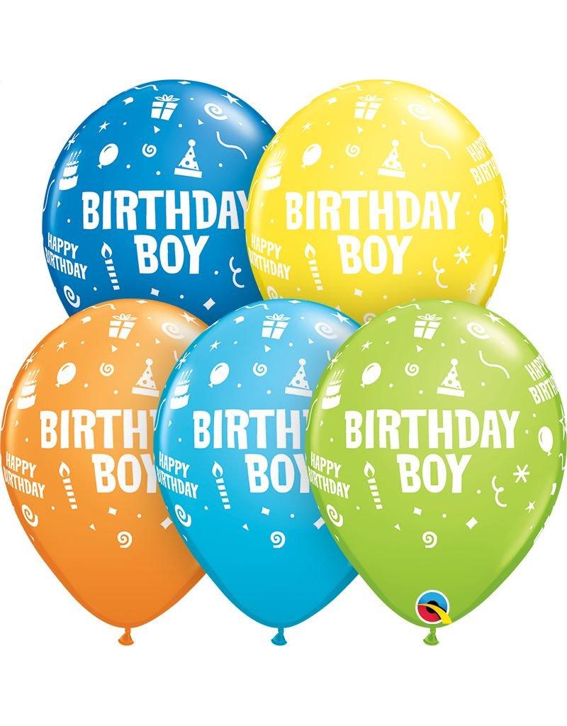 "11"" Birthday Boy Balloon (Without Helium)"
