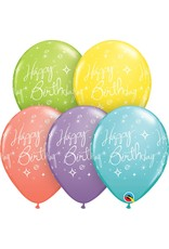 """11"""" Birthday Elegant Sorbet Balloon (Without Helium)"""