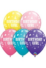 "11"" Birthday Girl Balloon (Without Helium)"