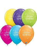 "11"" Birthday Shining Star Balloon (Without Helium)"