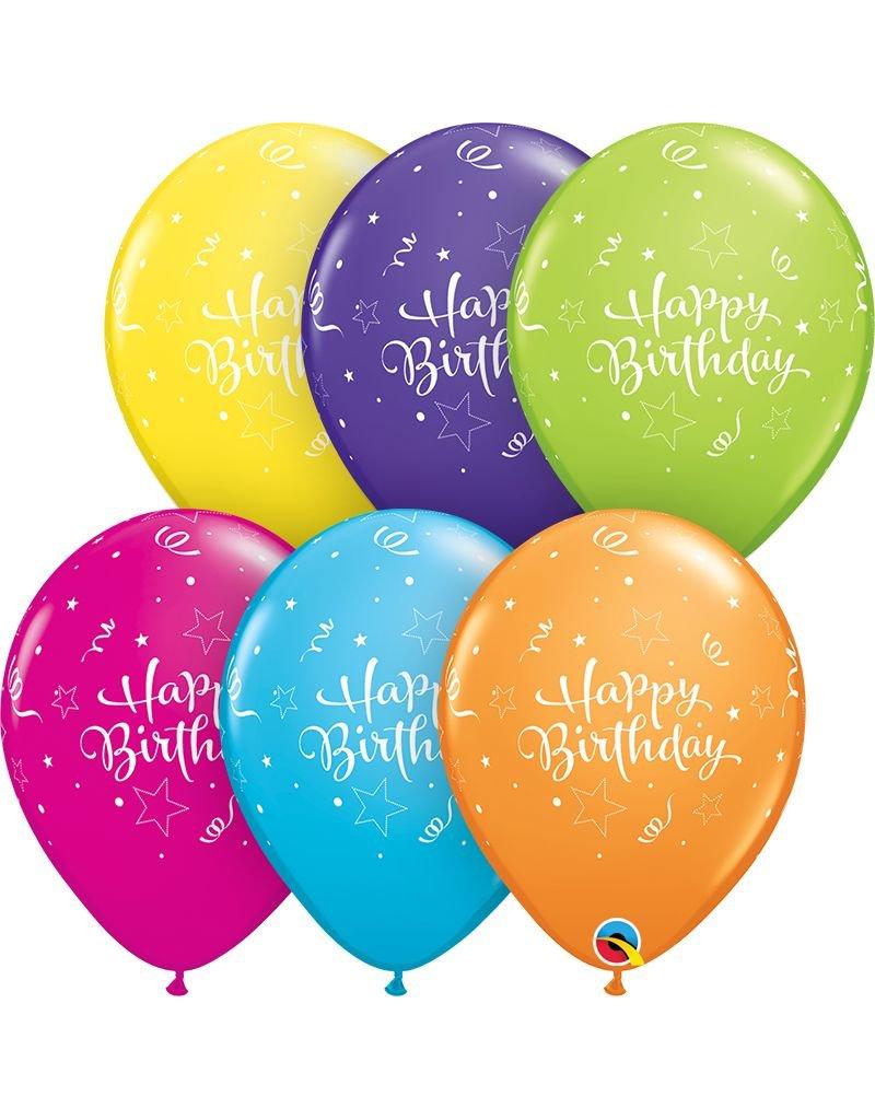 "11"" Birthday Shining Star Balloon (Without Helium)"