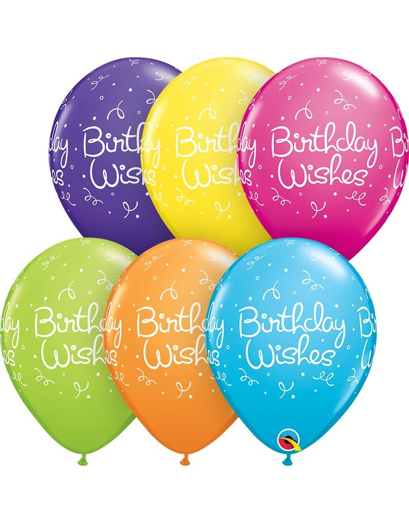 """11"""" Birthday Wishes Balloon (Without Helium)"""