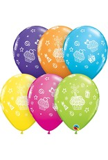 """11"""" Cupcakes & Presents Balloons (Without Helium)"""