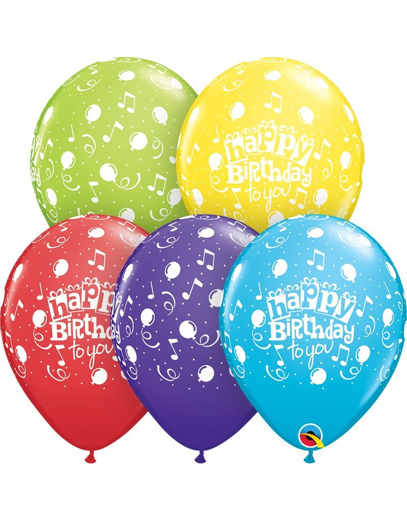 "11"" Happy Birthday To You Balloon (Without Helium)"