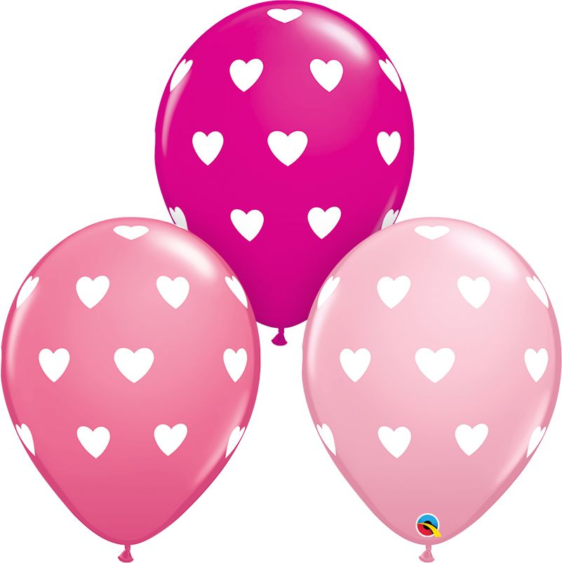 """11"""" Big Hearts Balloon (Without Helium)"""
