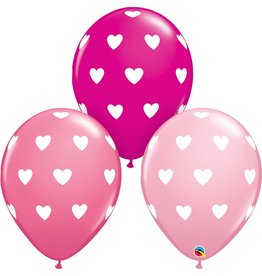 "11"" Big Hearts Balloon Uninflated"