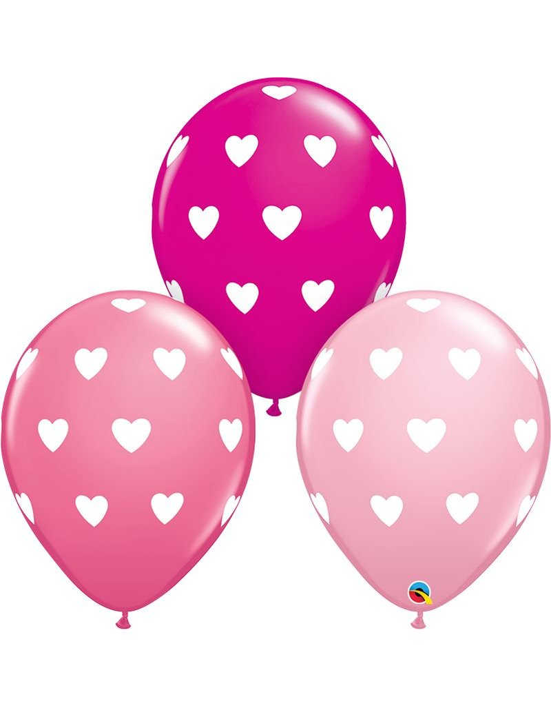 "11"" Big Hearts Balloon (Without Helium)"