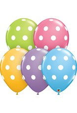 "11"" Big Polka Dots Balloon (Without Helium)"