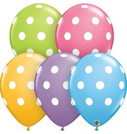 "11"" Big Polka Dots Balloon Uninflated"