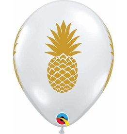 "11"" Clear Pineapple Balloon Uninflated"