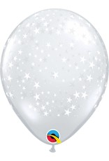 """11"""" Clear Stars Around Balloon (Without Helium)"""