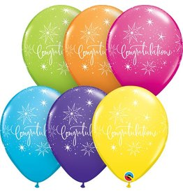 "11"" Congratulations Elegant Tropical Balloon Uninflated"