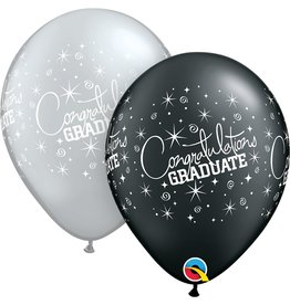 "11"" Congratulations Grad Balloon (Without Helium)"