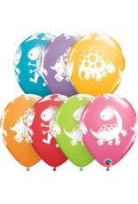 """11"""" Cute & Cuddly Dinosaurs Balloon (Without Helium)"""