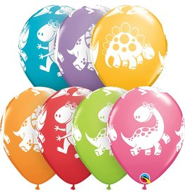 "11"" Cute & Cuddly Dinosaurs Balloon (Without Helium)"