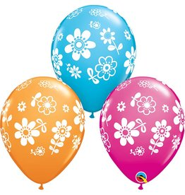 "11"" Daisies Balloon (Without Helium)"