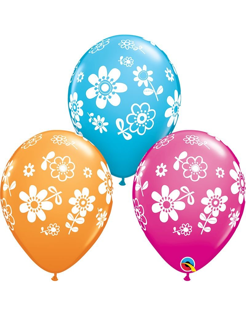 """11"""" Daisies Balloon (Without Helium)"""