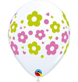 """11"""" Daisy Dots & Hearts Balloon Uninflated"""