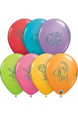"11"" Dinosaurs in Action Balloon (Without Helium)"