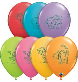 "11"" Dinosaurs in Action Balloon Uninflated"