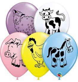 "11"" Farm Animals Balloon Uninflated"
