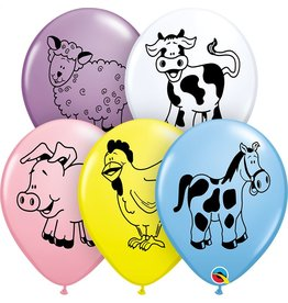 "11"" Farm Animals Balloon (Without Helium)"