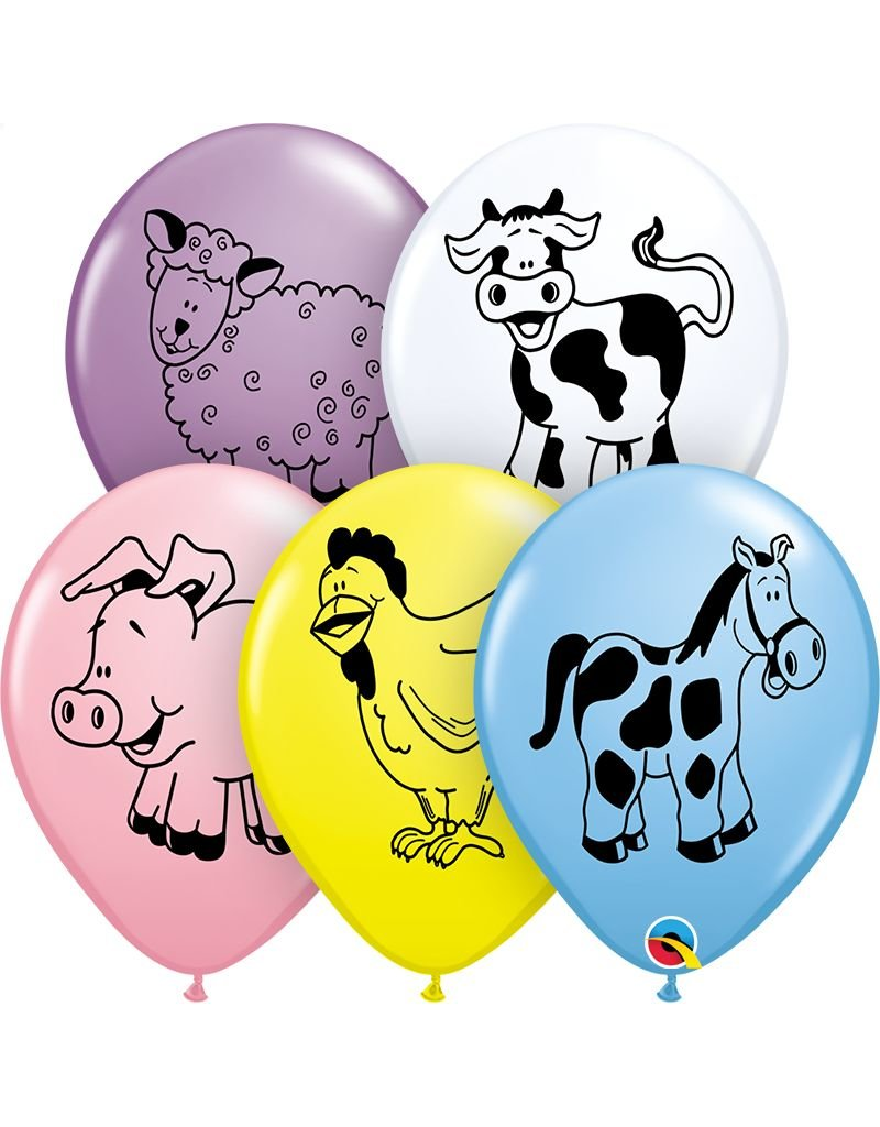 "11"" Farm Animals Balloon (Without Helium)"