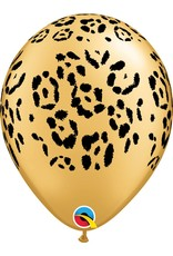 """11"""" Gold Leopard Spots Balloon (Without Helium)"""