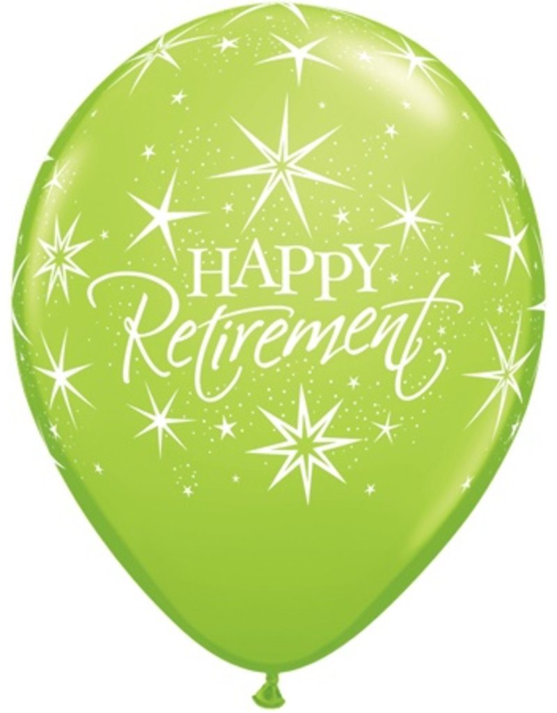 "11"" Happy Retirement Bursts Balloon (Without Helium)"