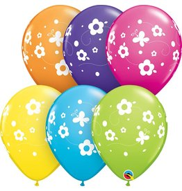 "11"" Daisies & Butterflies Balloon (Without Helium)"