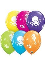 "11"" Fun Sea Creatures Balloon (Without Helium)"