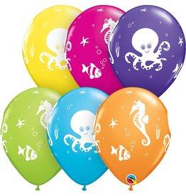 "11"" Fun Sea Creatures Balloon Uninflated"