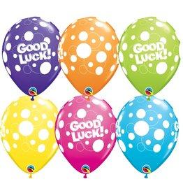 "11""  Good Luck Dots Balloon Uninflated"