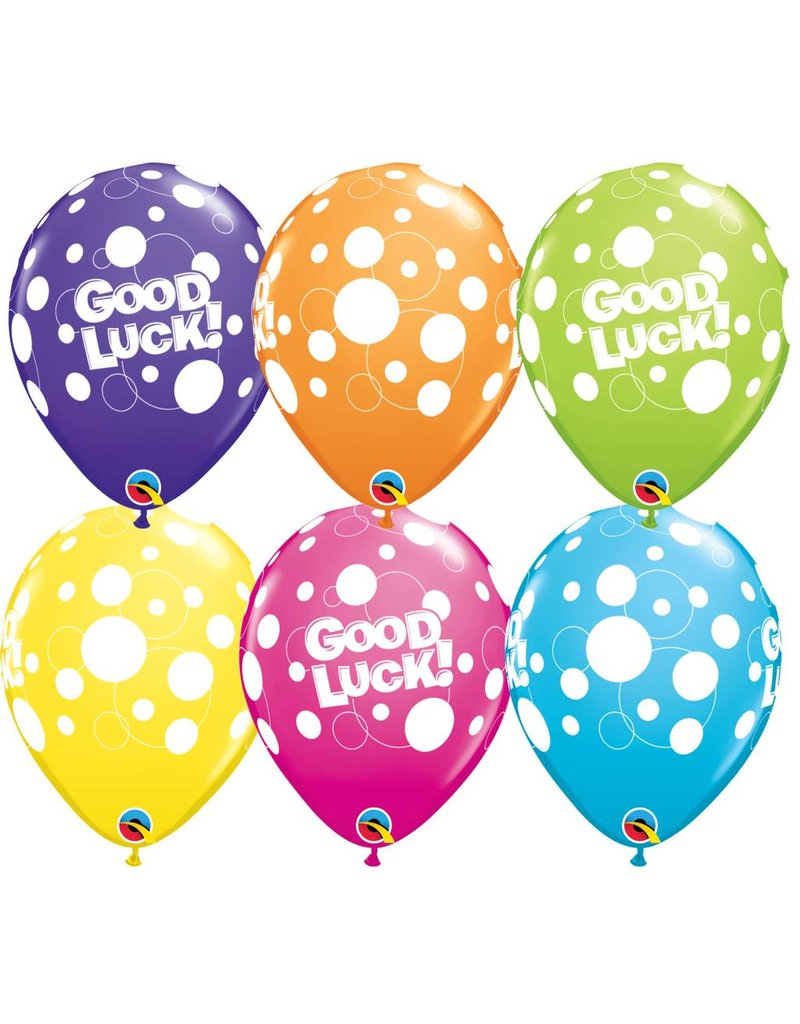 "11""  Good Luck Dots Balloon (Without Helium)"