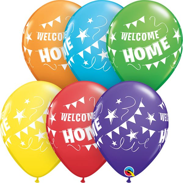 "11"" Welcome Home Pennant Banner Balloon (Uninflated)"