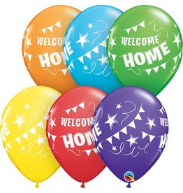"""11"""" Welcome Home Pennant Banner Balloon (Uninflated)"""