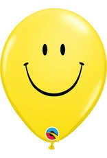 "11"" Yellow Smile Face Balloon (Without Helium)"