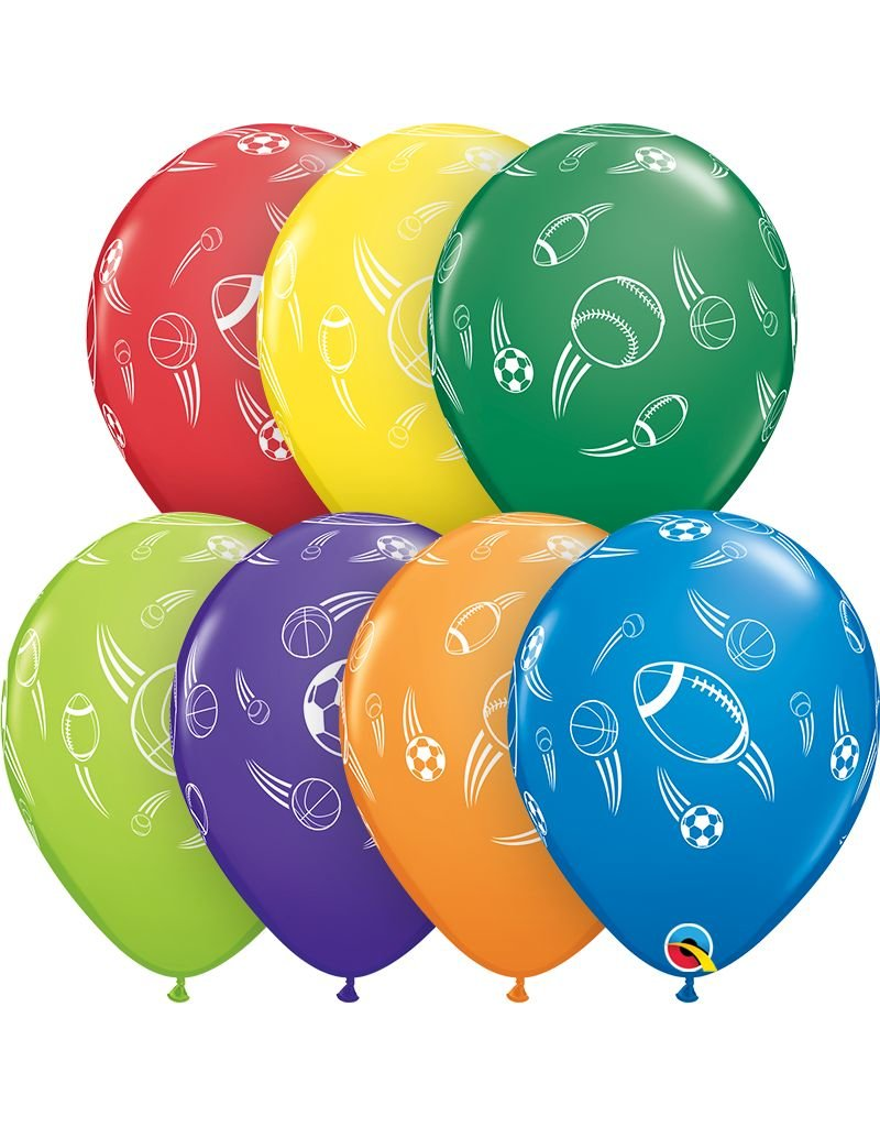 "11"" Sports Balls Balloon (Without Helium)"