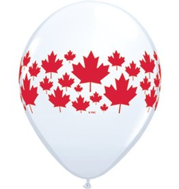 "11"" Maple Leaf Around Balloon Uninflated"