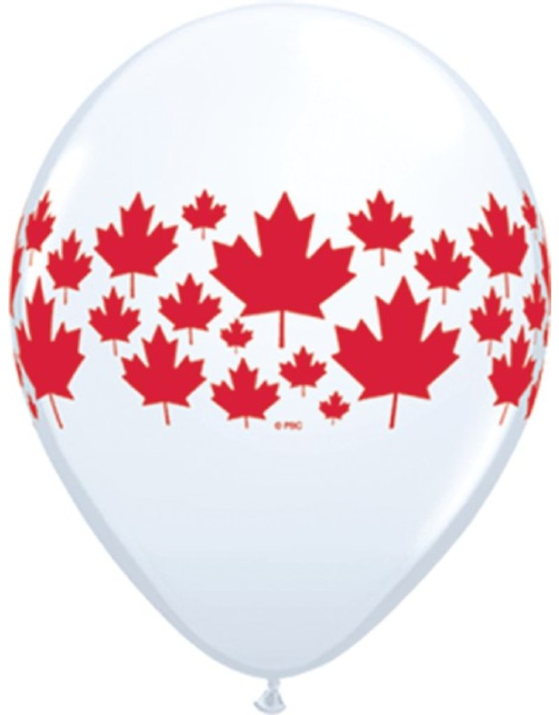 "11"" Maple Leaf Around Balloon (Without Helium)"